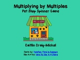 Print and Go Math Game: Multiplying by Multiples- Pet Shop