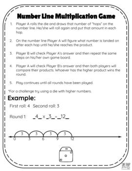 Print and Go Math Games for Common Core Multiplication Strategies