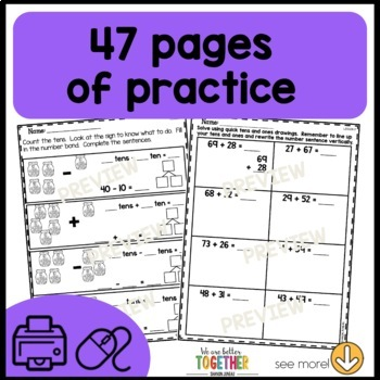 Print and Go Math Sheets (Adding and subtracting to 120)