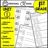 Math Worksheets 1st Grade commutative property addition within 10