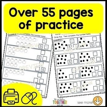 Math Worksheets 1st Grade missing addends, number bonds | TpT
