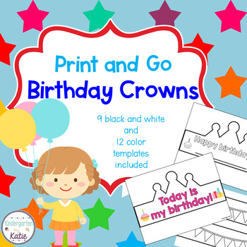 Print and Go Mix and Match Birthday Crowns