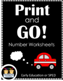 Print and Go Number Worksheets