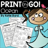 Print and Go! Ocean Math and Literacy (NO PREP)