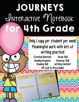 Print-and-Go, Paper-Saving Journeys Interactive Notebook for 4th Grade