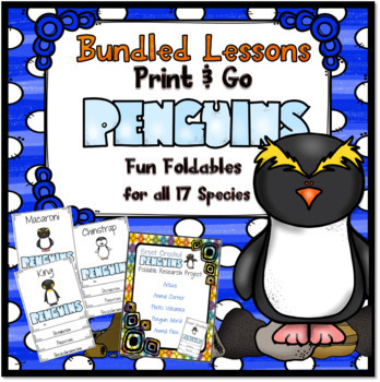 #SpringSavings Print and Go Penguins ~ Fun Foldables