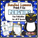 #SpringSavings Print and Go Penguins ~ Fun Foldables
