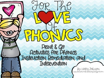 Print and Go Phonics Activities {Whole group, Small group, Intervention}