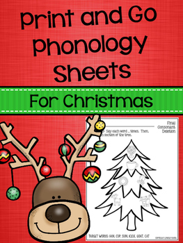 Print and Go Phonology Sheets for Christmas