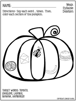 Print and Go Phonology Sheets for Halloween