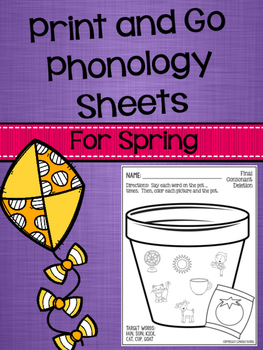 Print and Go Phonology Sheets for Spring