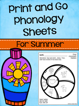 Print and Go Phonology Sheets for Summer