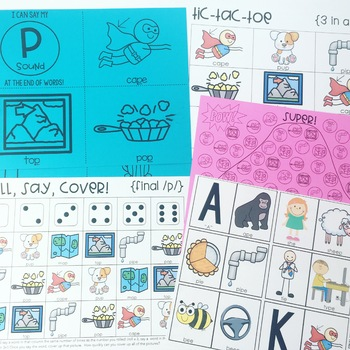 Phonological Processing Print and Go Activities Bundle