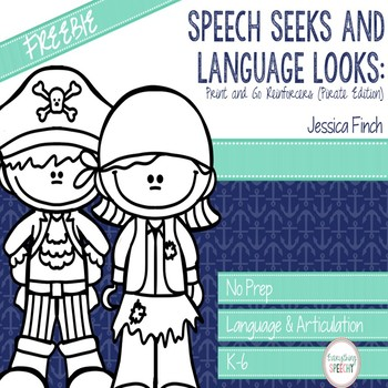 FREEBIE: Print and Go Pirate-Themed Speech Seek and Language Look Reinforcer