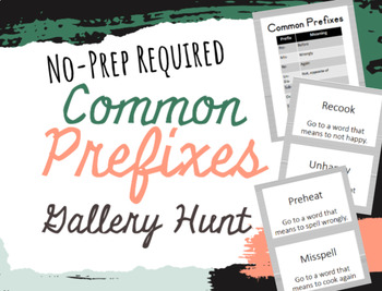 Print and Go Prefix Cards (I have, who has? or gallery walk style)