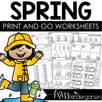 Spring Activities Print and Go Printables for Spring