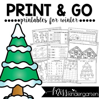 Winter Activities {print and go printables for winter}