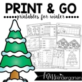 Winter Activities Print and Go Printables for Winter