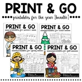 Kindergarten Math Worksheets and Literacy Worksheets for the YEAR