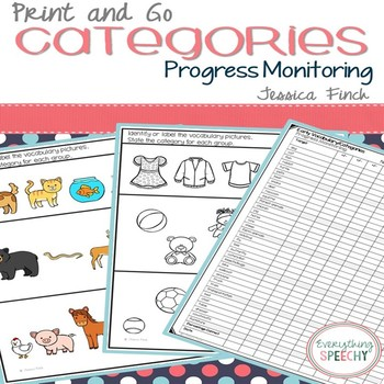 Print and Go Progress Monitoring: Categories