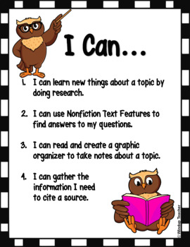 Research Center Reproducible  *Nonfiction Book Version* Print and Go!