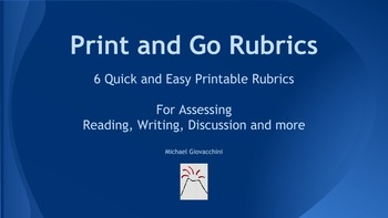 Rubrics for Assessing Analysis in Reading, Writing, Discussion {High School}