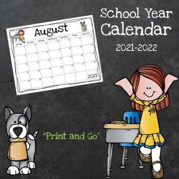 Print and Go School Calendar (2018-2019)