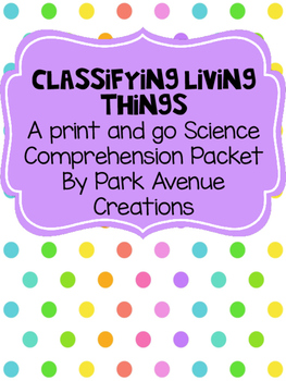 Print and Go Science Classifying Life