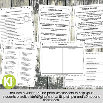Print-and-Go Sentence Packet - Spring Theme