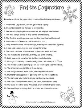 Print-and-Go Simple, Compound, & Complex Sentences - Winter
