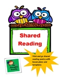 Print and Go Shared Reading Poetry Lesson Planner