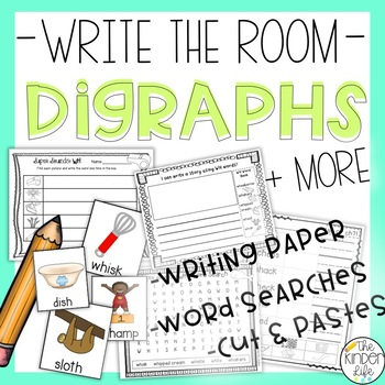 Print and Go: Sorting Activities +Write the Room Ch, Sh, Th, Wh Digraphs Bundle