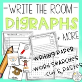 Digraphs Sorting Activities + Write the Room Ch, Sh, Th, Wh BUNDLE