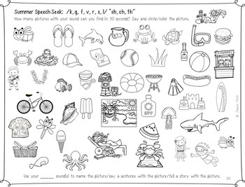Print and Go Speech Seeks and Language Looks: Year-Round