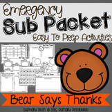 Print and Go Sub Packet for Bear Says Thanks