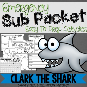 Print and Go Sub Packet for Clark the Shark