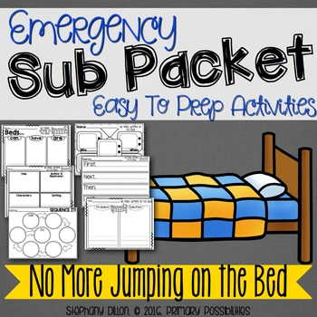 Print and Go Sub Packet for No More Jumping on The Bed