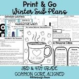 Print and Go Sub Plans - Editable Sub Plans - Third Grade - Winter Sub Plans