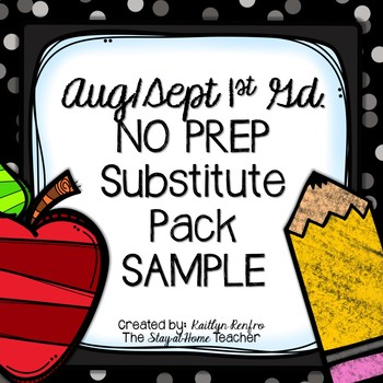 Print and Go Substitute Pack - Aug/Sep Gd.1 SAMPLE