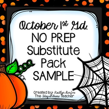 Print and Go Substitute Pack - Oct. Gd.1 SAMPLE