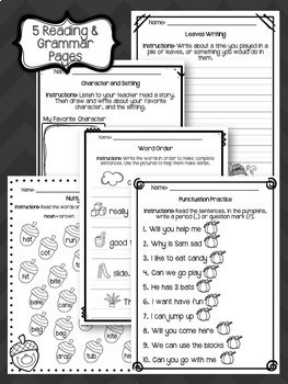 Sub Plans - NO PREP Review Worksheets for October {2nd Grade}