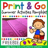 Print and Go Summer Activities Freebie