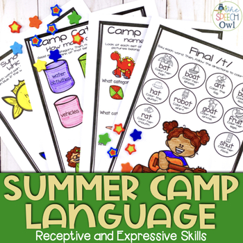 No Prep Speech and Language Worksheets and Homework: Summer Camp Edition