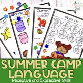No Prep Speech and Language Homework: Summer Camp   distan