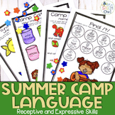No Prep Speech and Language Homework: Summer Camp | distan