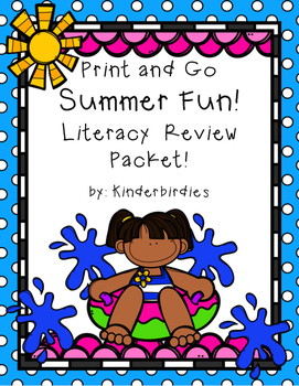 Print and Go Summer Fun Literacy Review Packet