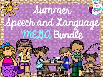 Summer Speech and Language Mega Bundle