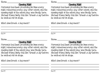 Print and Go Third Grade Reading Literature Exit Tickets