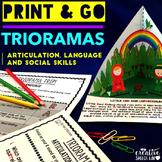 Print and Go Trioramas for Articulation, Language and Social Skills