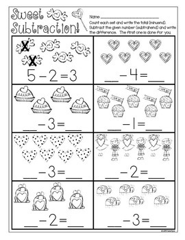 Print and Go! Valentine Math and Literacy (NO PREP)